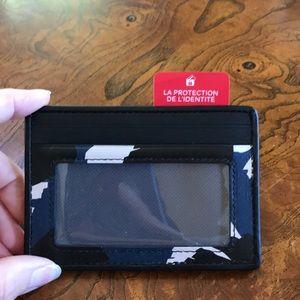 Tumi Money ID card case Blue/conga Print NWT RFID